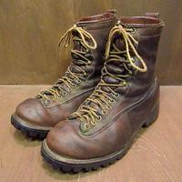 ビンテージ●Danner 7269レースアップレザーブーツ茶 Size 8?●200909n6-m-bt-26cm ダナーアウトドアワーク編み上げ古靴