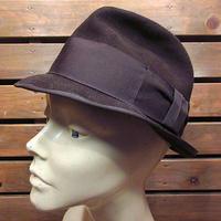 ビンテージ60's●PORTISフェドラハット茶size 6 7/8●201225n1-m-ht-flt古着フェルトハット中折れ帽USA帽子メンズブラウンソフト帽