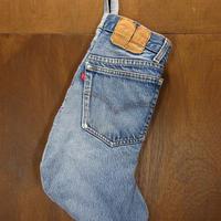 ビンテージ80's●Levi's ハンドメイドソックス型デニムバッグ●210512n6-bag-ot リーバイスポーチ靴下型