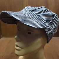 ビンテージ60's70's●ヒッコリーストライプワークキャップ7●210308n4-m-cp-wk 1960s1970sメンズコットン帽子