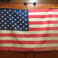 ビンテージ60's70's●50星アメリカ星条旗size89cm×139cm●210131f6-signコットン国旗フラッグバナーインテリアディスプレイ雑貨
