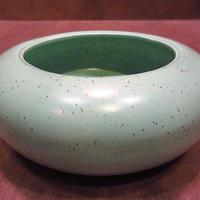 ビンテージ40's50's●Red Wingラウンドセラミックプランター●201008n5-otclct 1940s1950sレッドウィング陶器