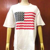 ビンテージ90's●ST. PETERSBURG FLORIDA星条旗プリントTシャツsizeL●200703f5-m-tsh-ot古着半袖シャツアメリカフロリダUSA製