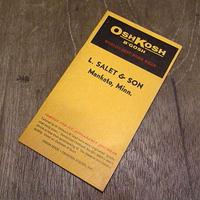 ビンテージ60's●OSHKOSHアドバタイジングノートブック●201207n6-otclct 1960sメモ帳ワーク販促品オシュコシュ