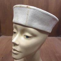 ビンテージ40's●U.S.NAVYセーラーハット●210601n3-m-ht-ot 1940sミリタリー米軍実物USN海軍帽子コットン白