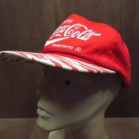 ビンテージ80's90's●DEADSTOCK Coca Colaブリムゼブラ柄刺繍スナップバックキャップ赤●210618n5-m-cp-bb 1980s1990sコカ・コーラ