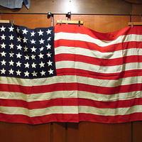 ビンテージ~30's●48星アメリカ星条旗●210224s9-sign 20s1920s1930s米国旗フラッグアンティークUSA