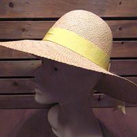 ビンテージ70's●レディースストローハット●200605n2-w-ht-str女性用USA古着麦わら帽子キャップ