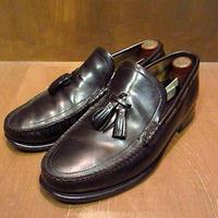 ビンテージ80's●タッセルローファー黒 約26cm●200916n5-m-lf-26cm USA革靴メンズレザーシューズ