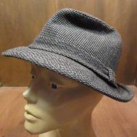 ビンテージ70's●チェックツイードハットM●210301n5-m-ht-flt 1970sメンズ中折れ帽ソフト帽レトロ