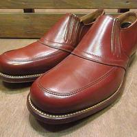 ビンテージ40's●DEADSTOCK SHAWレザーローファー茶7E?&6EE●200709n2-m-lf-255cm 1940sデッドストック革靴ブラウン
