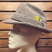 ビンテージ70's●Eddie Bauer × RESISTOLツイードフェドラハット●200918n3-m-ht-fltエディーバウアーメンズ古着帽子ウール雑貨中折れ帽