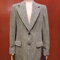 ビンテージ70's●Harris Tweed 2Bネップ織りツイードテーラードジャケットグレー●201227f6-m-jk-tl古着ハリスツイードブレザーウール