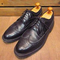 ビンテージ80's●DEXTERウィングチップシューズ黒size 10 D●201023n7-m-dshs-28cm革靴古靴デクスタービジネスシューズドレスUSA製