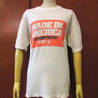 ビンテージ80's●MADE IN AMERICA EXPORTED BY AIFSコットン半袖Tシャツ白●200727s7-m-tsh-otアメリカ製古着USAトップスメンズ
