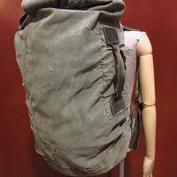 ビンテージ70's●ミリタリーキャンバスダッフルバッグ●210606f9-bag-bpハンドバッグバックパックリュックサック
