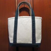 MADE IN U.S.A. L.L.Beanキャンバストートバッグ白×緑size S●210327f7-bag-ttビーントートエルエルビーンハンドバッグUSA製アウトドア