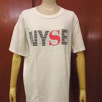 ビンテージ90's●New York Stock ExchangeプリントTシャツsize L●200823f3-m-tsh-ot古着半袖シャツコットンHanes
