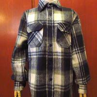 ビンテージ70's80's●DEADSTOCK BrewsterチェックウールCPOシャツジャケットsize S●201128s6-m-lssh-wl古着長袖シャツメンズアウター