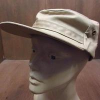 ビンテージ~70's●DEADSTOCKコットンワークキャップベージュ7 3/8●210307n5-m-cp-wk 60s1960s1970sデッドストック帽子メンズ