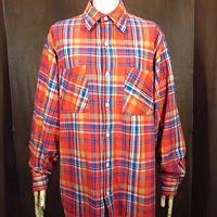 ビンテージ70's●BIG MACチェックヘビーネルシャツ赤TALL M●200906n2-m-lssh-nl 1970sビッグマックフランネル