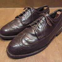 ビンテージ70's80's●ウイングチップシューズ焦げ茶size 10 1/2●210305n1-m-dshs-295cm革靴ビジネスシューズレザーシューズ古靴メンズ