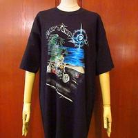 ビンテージ90's●Not Fade Away DAYTONAスカルモーターサイクルTシャツ黒 Size XL●200811s1-m-tsh-ot デイトナ半袖古着メンズ