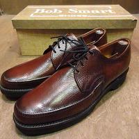ビンテージ70's●DEADSTOCK Bob Smart Uチップシューズ茶8 1/2 B●200910n2-m-dshs-27cm 1970sデッドストックドレスシューズ革靴