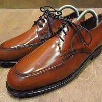 ビンテージ80's●DEADSTOCK TOWNCRAFT Uチップシューズ茶9D●200914n1-m-dshs-27cm 1980sデッドストック革靴ドレスシューズ