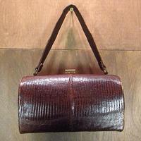 ビンテージ~70's●リザードスキンハンドバッグ●200721n4-bag-hnd 60s1960s1970sエキゾチックレザーレディース鞄