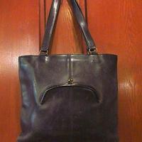 ビンテージ●オールドコーチレザーハンドバッグ黒●200713f6-bag-hndかばん革COACHレディースUSAブラック