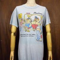 ビンテージ80's●Montana ウエスタンピギープリントTシャツ M●210619n1-m-tsh-ot モンタナ豚ブタ半袖トップス米国製