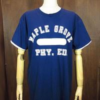 ビンテージ70's80's●ダブルフェイスTシャツ紺×白●200809n2-m-tsh-ot 1970s1980sカレッジプリント大学メンズネイビー