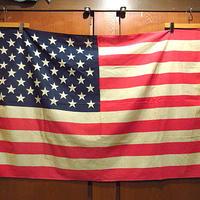 ビンテージ60's70's●50星アメリカ星条旗size 89cm × 137cm●201217f8-otclctフラッグ国旗雑貨インテリアディスプレイ