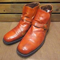 ビンテージ70's●Searsアンクルストラップブーツ茶size 10 1/2D●201002n8-m-bt-285cmシアーズレザーシューズメンズ古靴革靴ブラウン