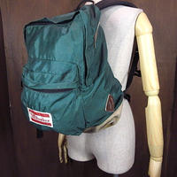 ビンテージ80's●Sunbackerボトムスウェードバックパック緑●201023n6-bag-bpデイパック古着カバン鞄リュックサックグリーン