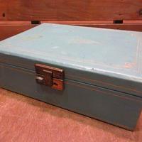 ビンテージ~70's●ジュエリーボックス水色●201015n7-bxs 60s1960s1970sアクセサリーケース小物入れ収納