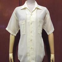 ビンテージ60's●Searsループカラー半袖シャツsize M●210530s6-m-sssh-lpトップス古着半袖シャツシアーズ開襟シャツオープンカラーシャツ