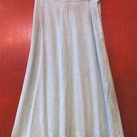 ビンテージ40's50's●レーヨンスカート水色●200802s9-m-tsh-otレディース古着女性用フレアスカートライトブルー