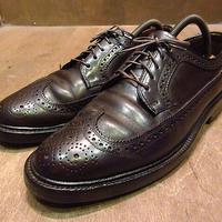 ビンテージ70's●WORTHMOREコードバンウイングチップシューズ焦げ茶●201203n3-m-dshs-255cm 1970s革靴ドレスシューズ