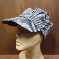 ビンテージ●HELENS HEADLINES ヒッコリーストライプワークキャップ●210306n2-m-cp-wk USA帽子メンズファッション古着
