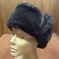 ビンテージ●ミリタリー耳当て付きボアキャップ58●201022n4-m-cp-ot ウールフライトキャップグレーロシア帽