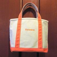 MADE IN U.S.A. L.L.Beanキャンバストートバッグ白×橙size S●201110s2-bag-ttビーントートエルエルビーンハンドバッグUSA製アウトドア