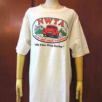 ビンテージ90's●NWTA Old Time Drag RacingオールドカープリントTシャツ白size XL●200816s1-m-tsh-ot車古着USAコットンレーシング