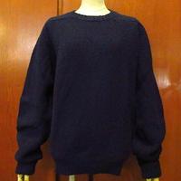 ビンテージ80's●L.L.Beanクルーネックウールセーター紺size M●201122s7-m-swr古着エルエルビーンニットUSA製アウトドアアイルランド製