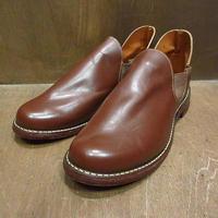ビンテージ~70's●DEADSTOCKレザーロメオブーツ茶size 7●210617f6-m-bt-245cmサイドゴアシューズ革靴メンズデッドストック