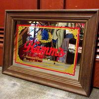 ビンテージ●Hamm's BEER パブミラー 58cm×42cm●210223f2-sign ハムズビール雑貨壁掛けディスプレイ鏡インテリア