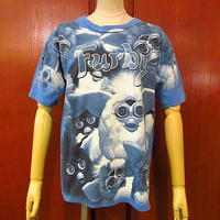ビンテージ90's●Furby総柄プリントTシャツ Size XL●200619s1-m-tsh-ot ファービー人形トップス古着