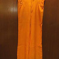 ビンテージ70's●MADE IN FRANCE TEMPTATIONフレアパンツ橙●210426s5-m-pnt-ot-W32カラーパンツボトムスメンズ古着ヒッピーオレンジ