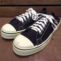ビンテージ70's●DEADSTOCK Kratonレディースキャンバススニーカー黒size 7 1/2●210122n8-w-snk-255cmデッドストック古靴USA製ブラック